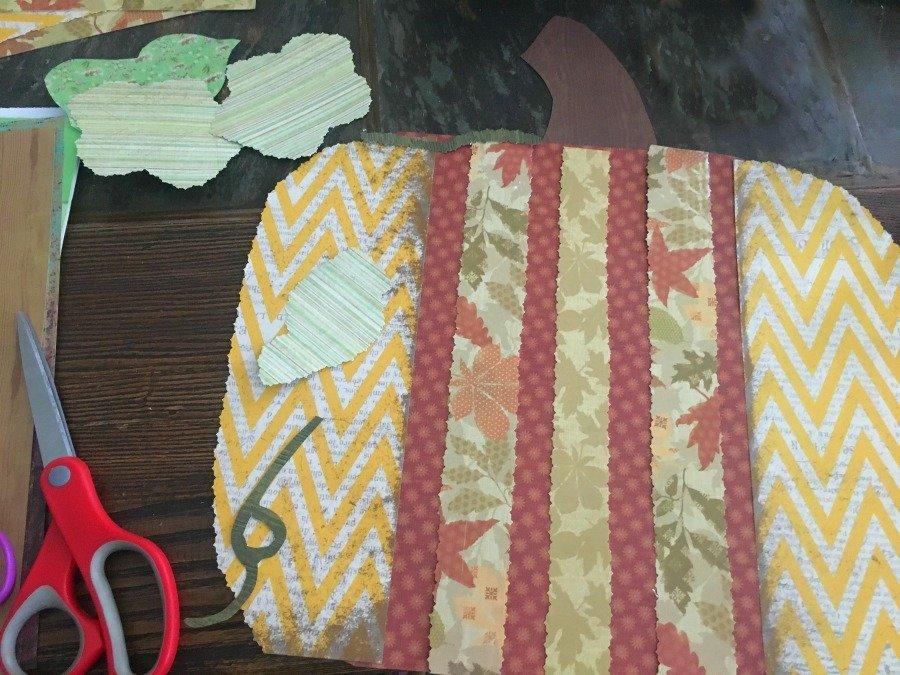 Fall Pumpkin Tile DIY-gcc-cutting