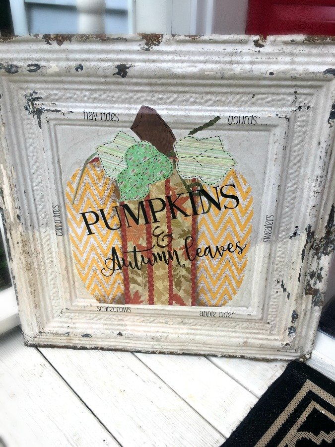 Fall Pumpkin Tile DIY-gcc-craft