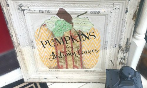 Fall Pumpkin Tile DIY