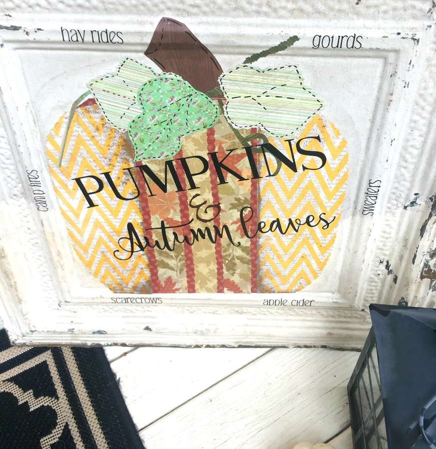 Fall Pumpkin Tile DIY-gcc-project
