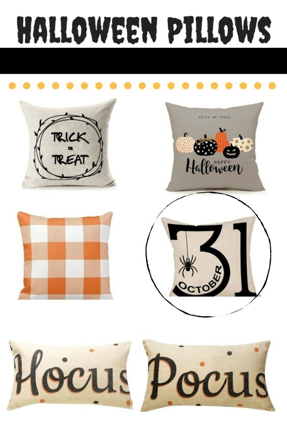 Festive Halloween table decor-gcc-pillow