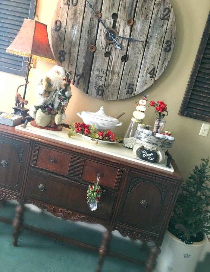 Christmas at Gully Creek Cottage-sideboard