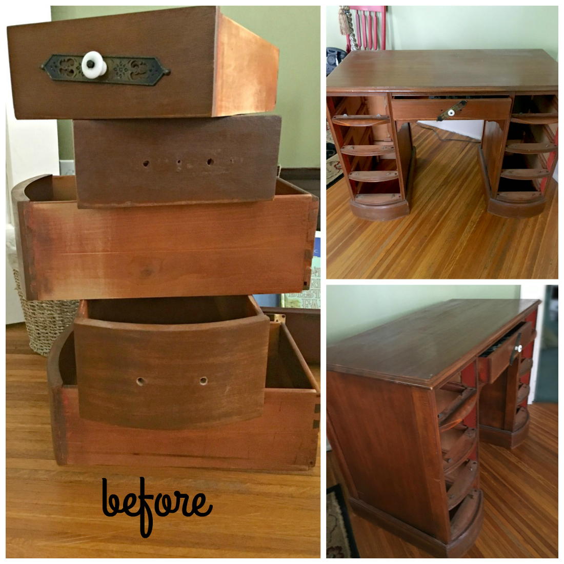 Chalk paint and an old desk makeover-gcc-before