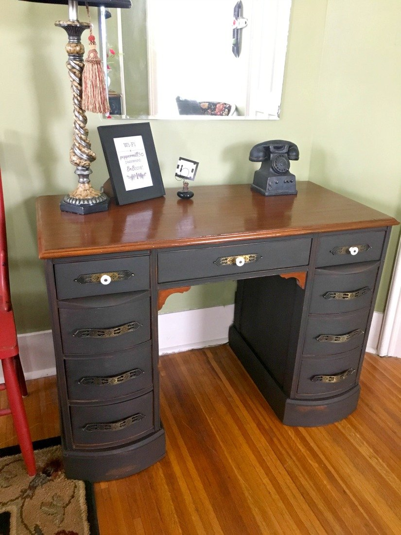 Chalk paint and an old desk-done
