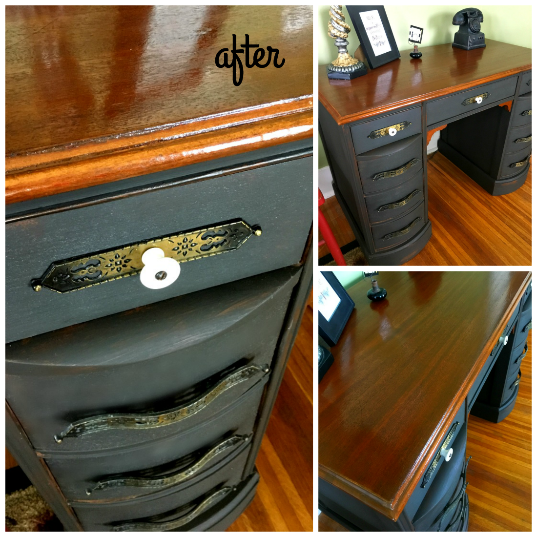 Chalk paint and an old desk makeover-gcc-after