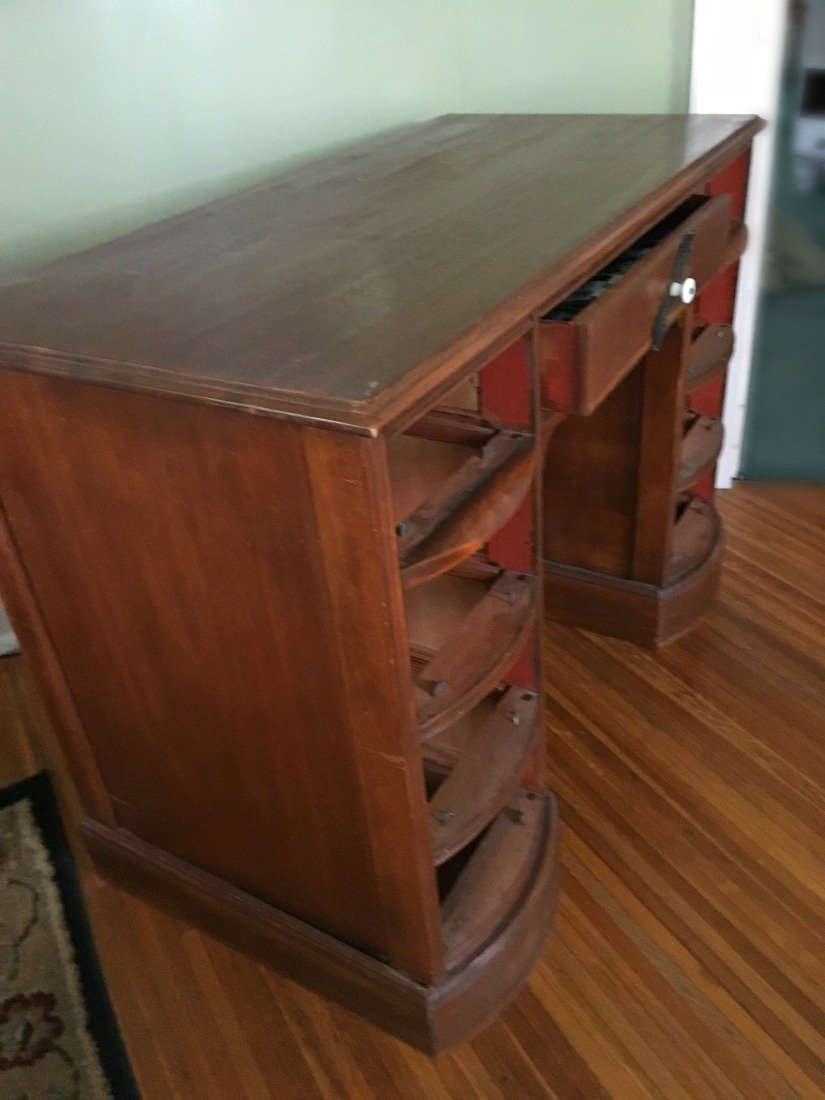 Chalk paint and an old desk makeover-gcc-antique