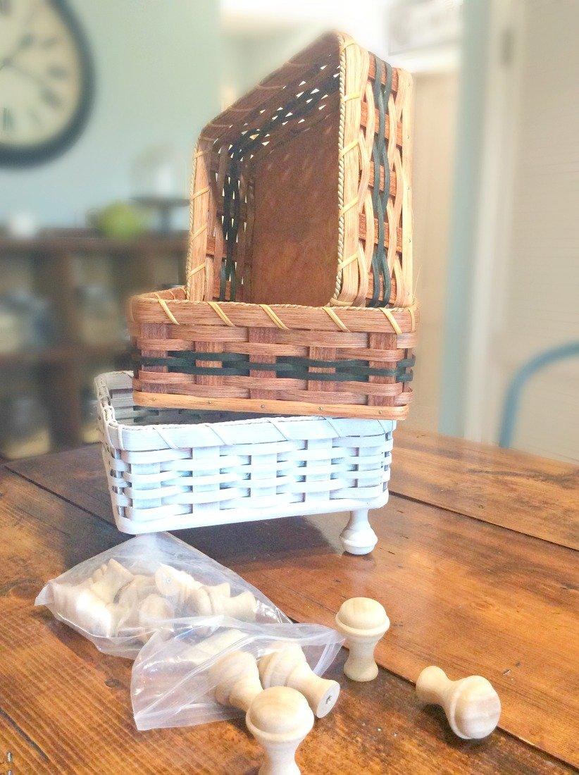Amish baskets turned farmhouse shabby-gcc-amish
