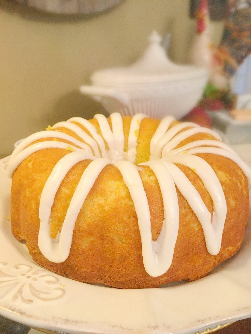 Glazed Lemon Zucchini Bundt Cake-icing