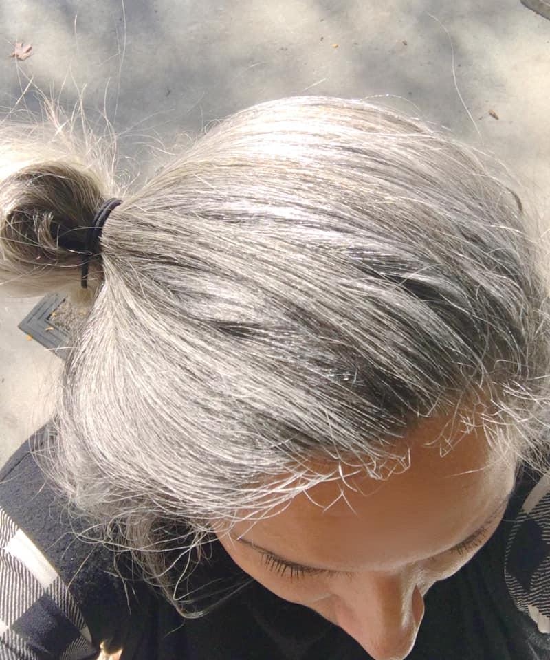 Healthy beautiful hair at 60-gcc-silver