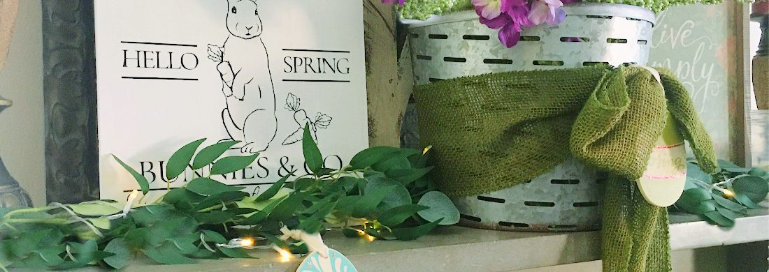 A Simple Spring Wood Sign