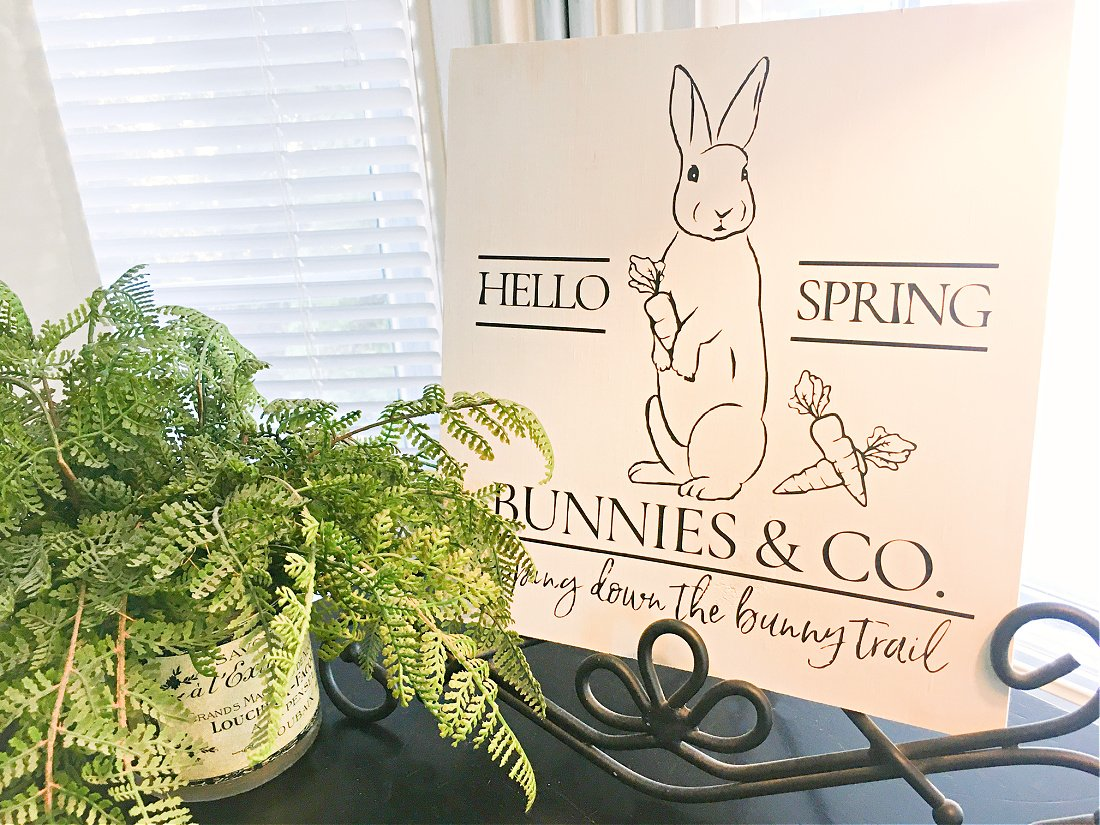 A Simple Spring Wood Sign-gcc-art