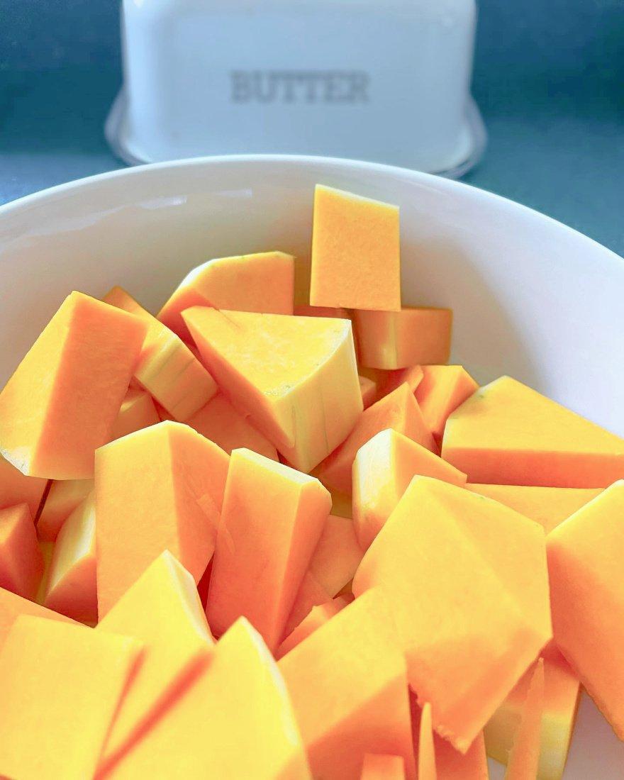 creamy butternut squash bisque-gcc-cubed