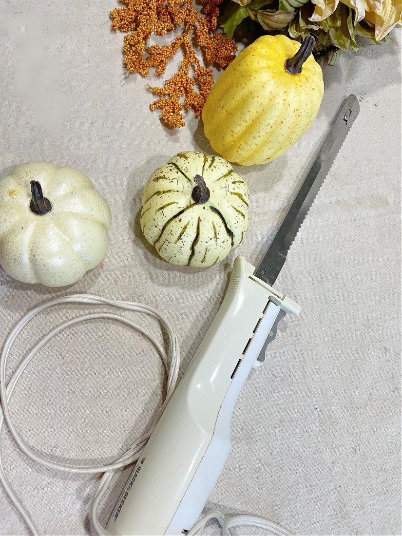 pumpkin floral pick hack-gcc-knife