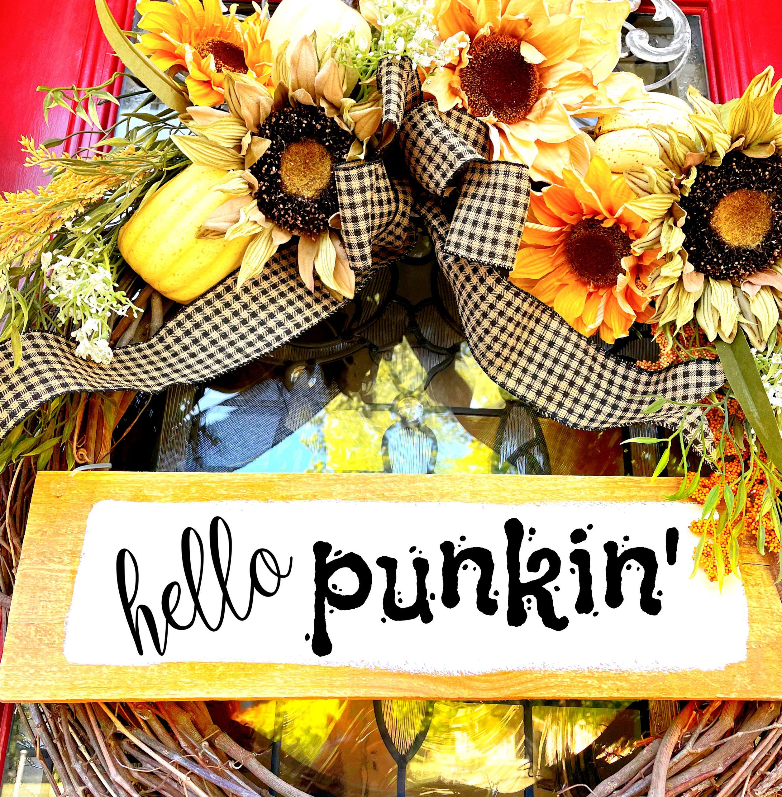 pumpkin floral pick hack-gcc-door