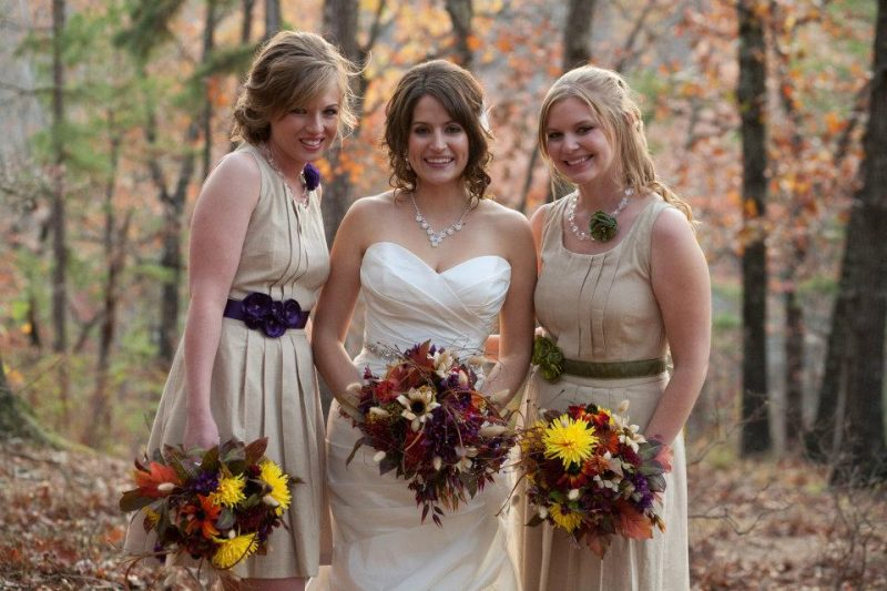featuring a Fall wedding-bridesmaids