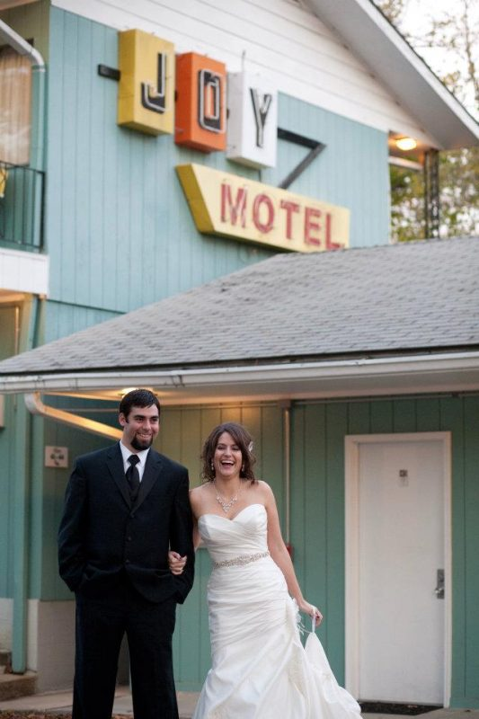 featuring a Fall wedding-motel