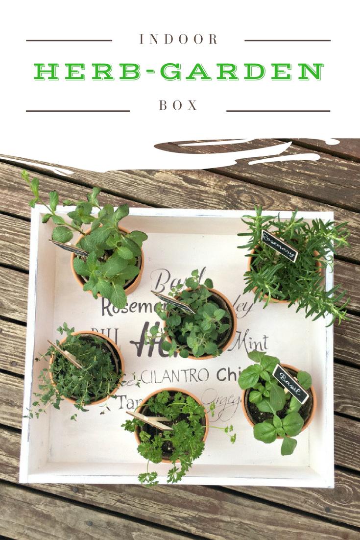 The Cutest Indoor Herb Garden DIY -pin