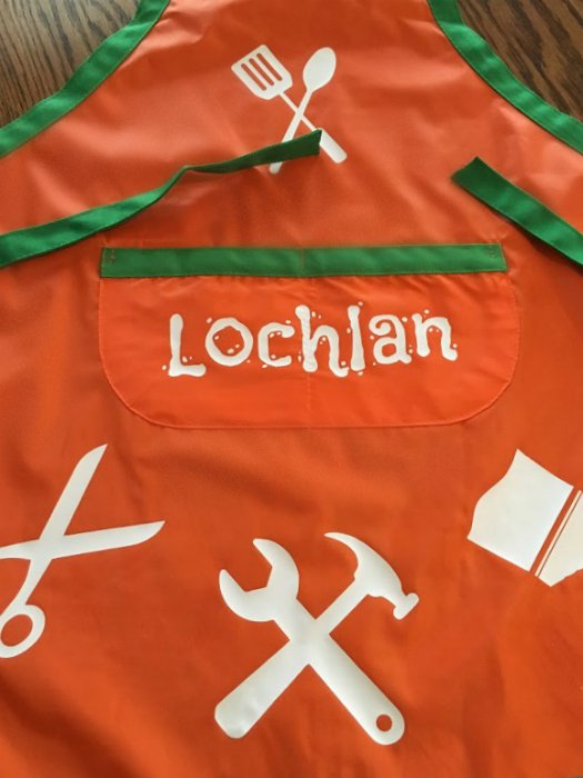 Fun activities for toddlers-personalized-apron
