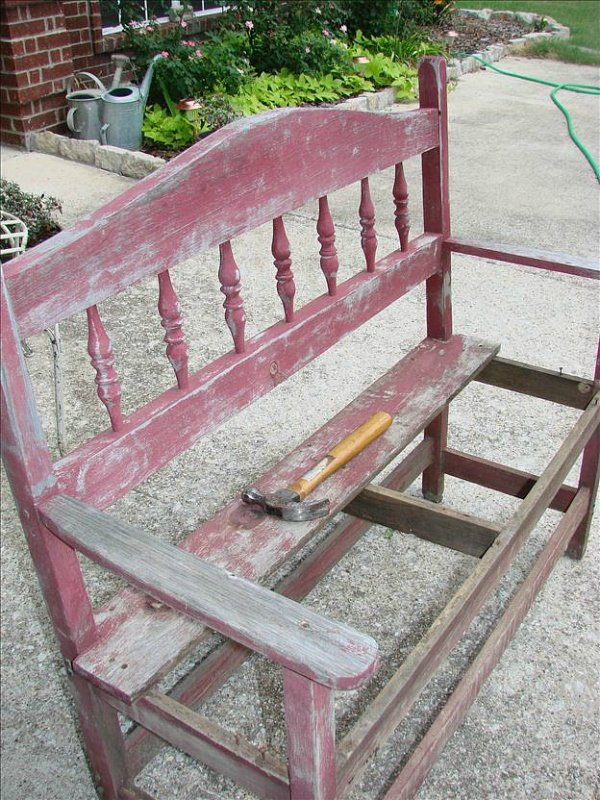 Bench makeover-before