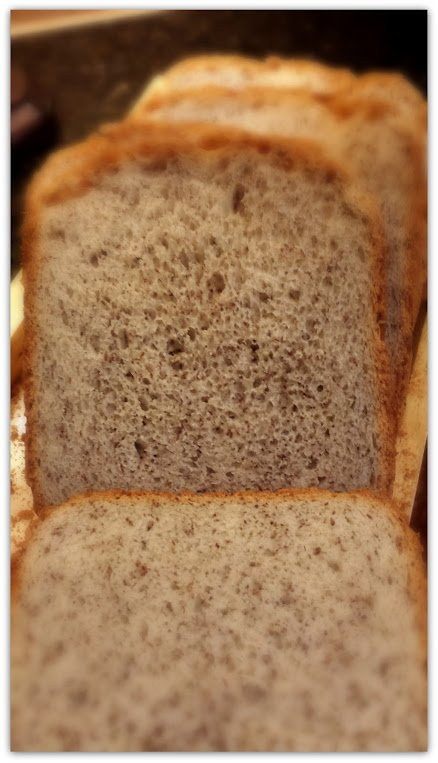 A slice of bread with healthy on it, please!-loaf
