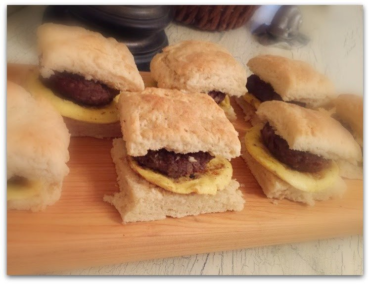 Homemade Sausage Biscuits-sandwich