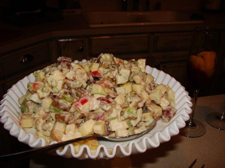 girls Christmas Brunch-salad