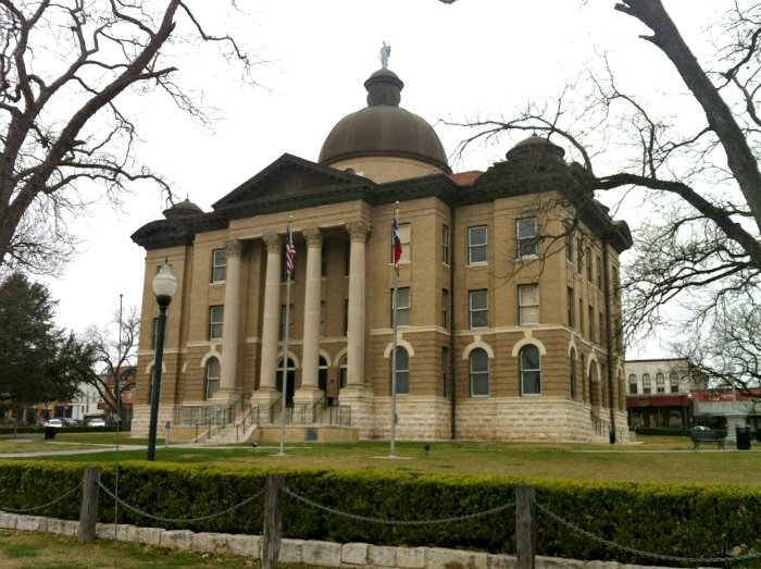 it's springing in the hill country-courthouse