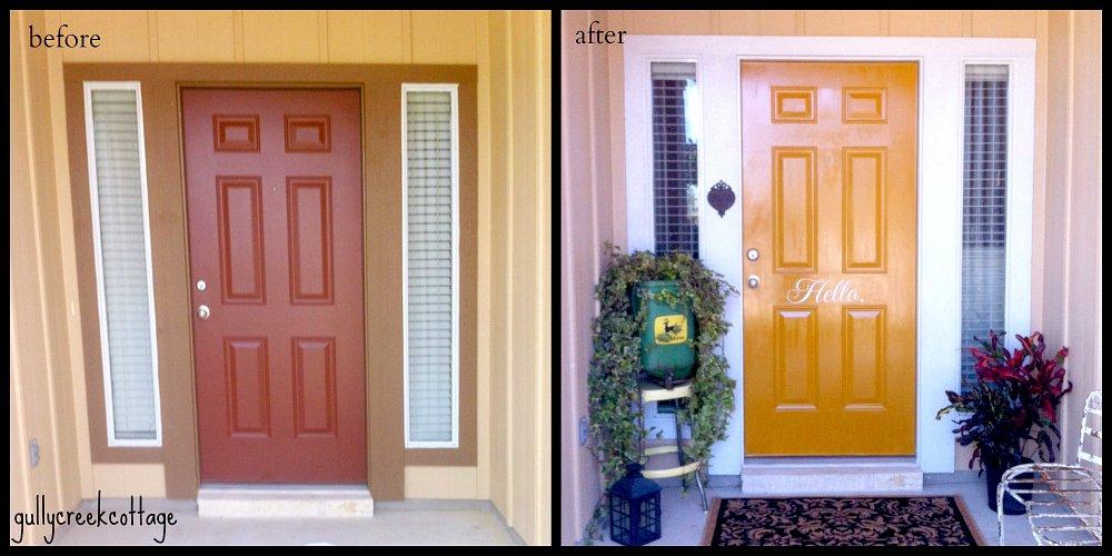 front door reveal-collage