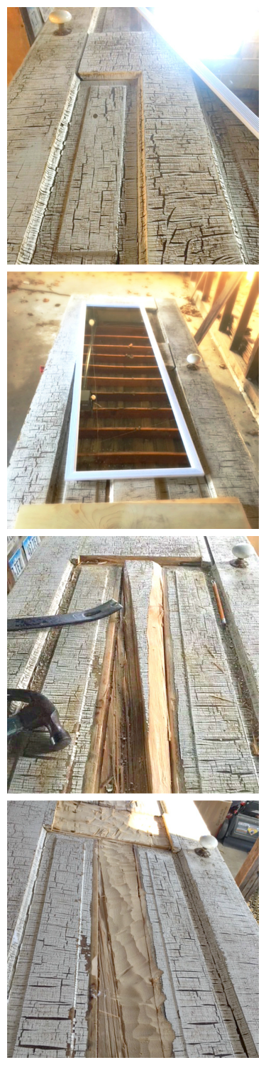 How an old door has a new purpose-collage