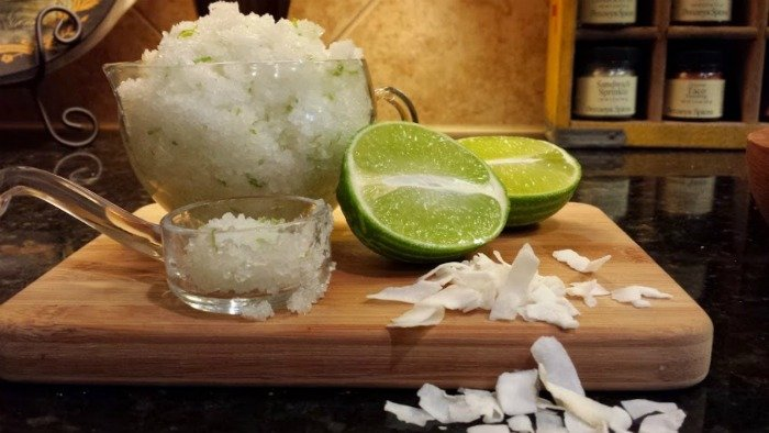 summer skin care-lime-coconut