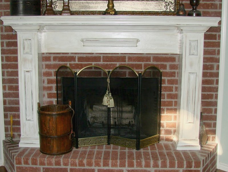 antiquing a mantle-after