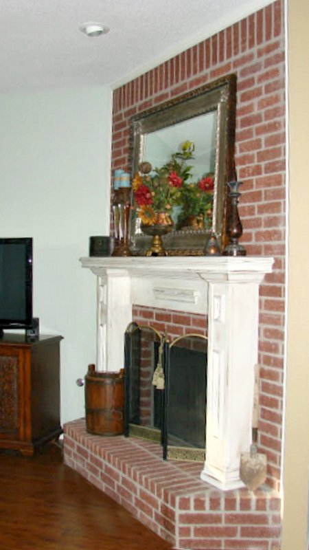 antiquing a mantle-after-1