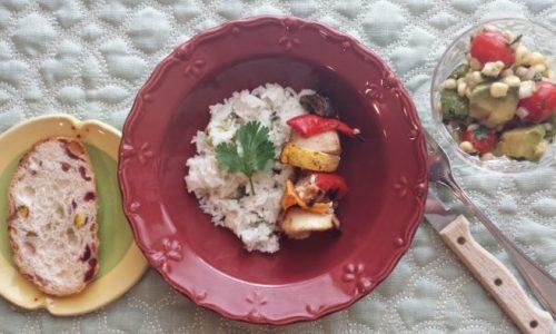 herb garden update & a perfect summer salad