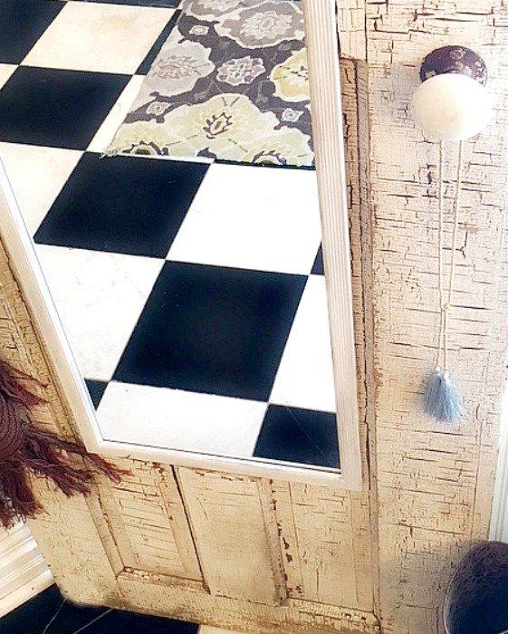 Old door, new purpose-mirror-project