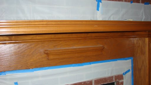 antiquing a mantle-stain-1