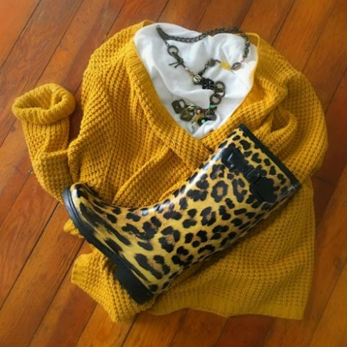 Beauty, fashion changes, and necessities-mustard-rainboots