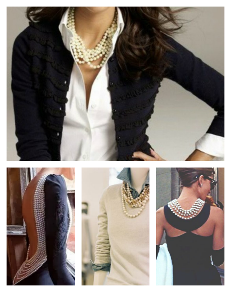 How to dress up pearls-collage