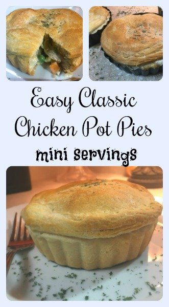 Easy Classic Chicken Pot Pies [mini servings]-pin