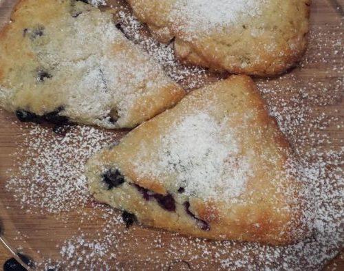 blueberry scones anyone-blueberry