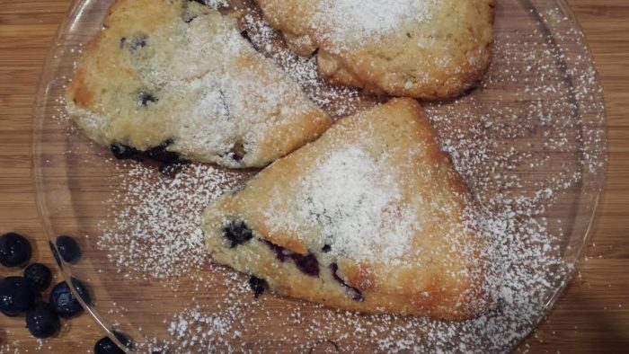 blueberry scones anyone-blueberry