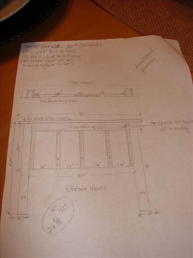 King Size Headboard project-design