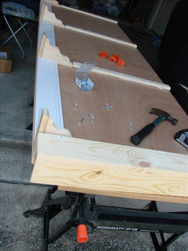 King Size Headboard project-piecing