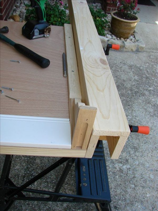 King Size Headboard project-clamps