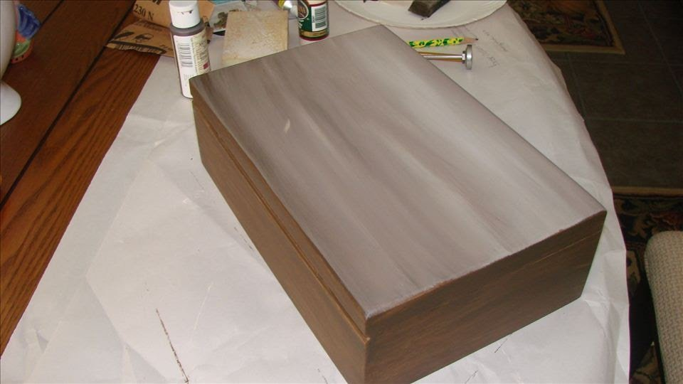 tea storage box-painted
