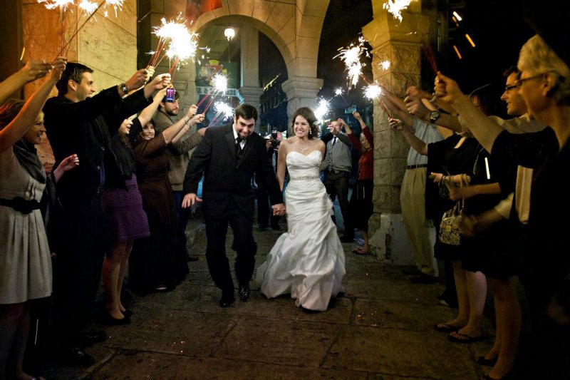 featuring a Fall wedding-sparklers