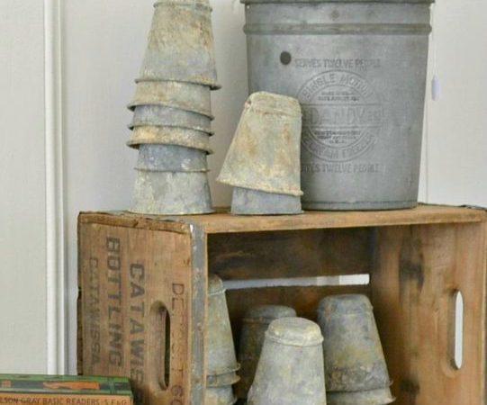 zinc pots – repurposed